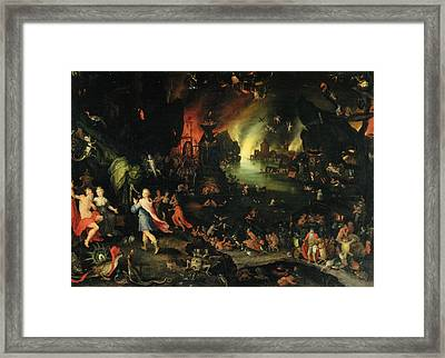 Orpheus Sings For Pluto And Proserpina Framed Print