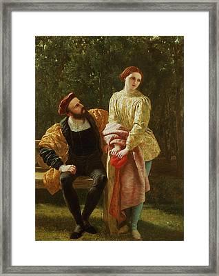 Orsino And Viola Framed Print