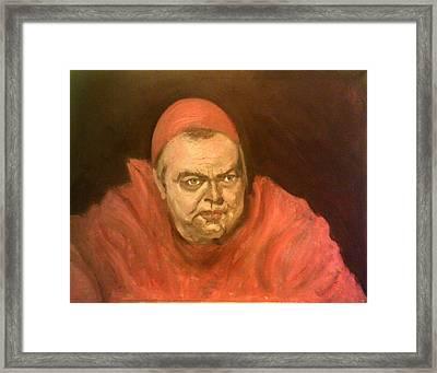 Orson Welles As Cardinal Wolsey Framed Print