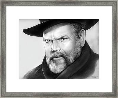 Orson Welles Framed Print by Greg Joens