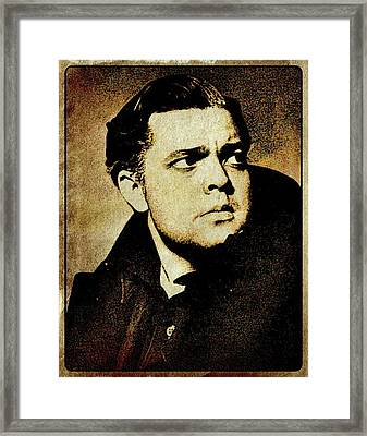 Orson Welles Vintage Hollywood Actor Framed Print by Esoterica Art Agency