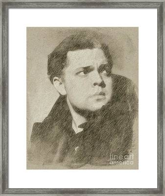 Orson Welles Vintage Hollywood Actor Framed Print by Frank Falcon