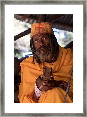Orthodox Christian Priest , Lake Tana, Ethiopia Framed Print