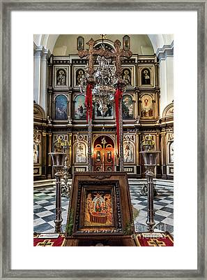 Orthodox Church Of St. Nicholas Framed Print by John Greim