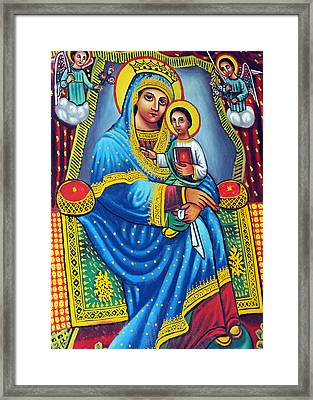Orthodox Family Framed Print by Munir Alawi