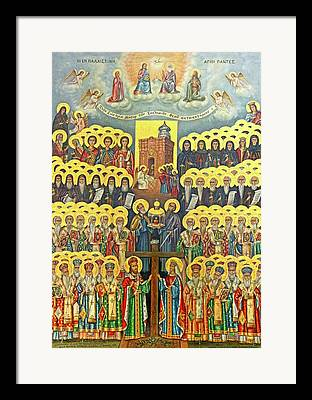 Icon Byzantine Photographs Framed Prints