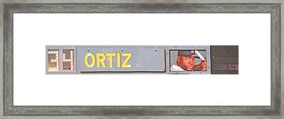 Ortiz Framed Print