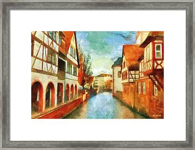 Ortschaft Framed Print