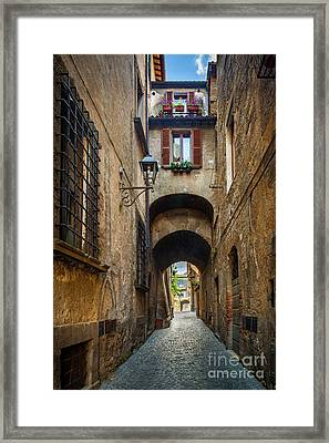 Orvieto Alley Framed Print