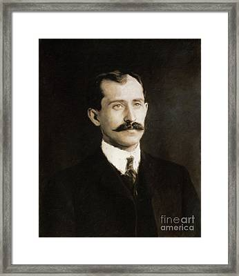 Orville Wright, Inventor By Mary Bassett Framed Print by Mary Bassett