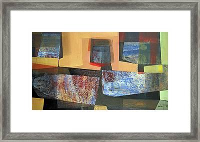 Os1957bo011 Abstract Landscape Of Potosi Bolivia 18 X 33.3 Framed Print by Alfredo Da Silva