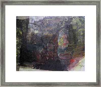 Os1958ar006ba Abstract Landscape Of Potosi Bolivia 23.6 X 30.3 Framed Print