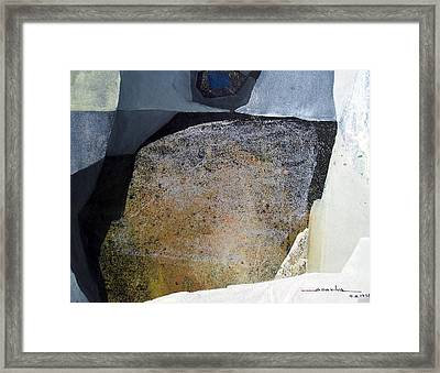 Os1958ar007ba Abstract Landscape Of Potosi Bolivia 19.6 X 25.3 Framed Print