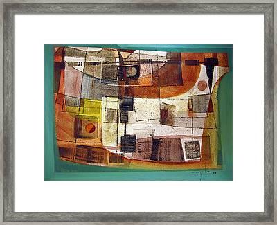 Os1958bo002 Abstract Landscape Potosi 23.5x16.75 Framed Print