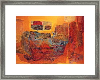 Os1959ar002 Mitoformas Buenos Aires 25x17.5 Framed Print