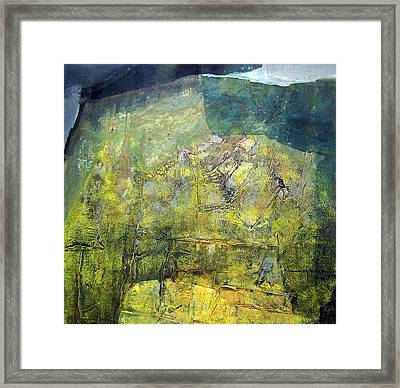 Os1959ar015ba Abstract Landscape Of Potosi Bolivia 20.9 X 21.9 Framed Print by Alfredo Da Silva