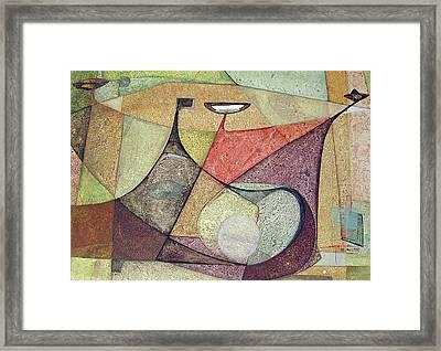 Os1960ar001ba Abstract Design 16.75x11.5 Framed Print by Alfredo Da Silva