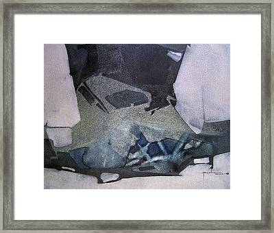 Os1968ny001 Abstract Forms Potosi Bolivia 17 X 22 Framed Print by Alfredo Da Silva