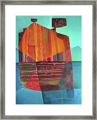 Os1970ny001 Mother And Child 13.75x18.75 Framed Print