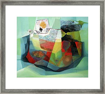Os1976ar001ba Cosmic Shapes  25x29.5 Framed Print by Alfredo Da Silva