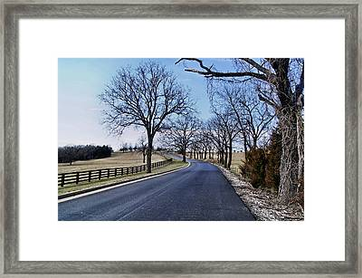 Framed Print featuring the photograph Osage County Road by Cricket Hackmann