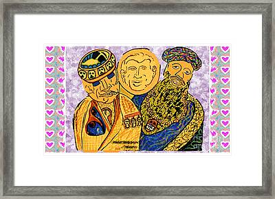 Osama Bin Laden Dick Chenny And George Bush Era Cartoons By Navinjoshi Framed Print by Navin Joshi