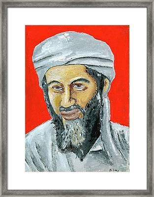 Osama Framed Print by Mikey Milliken
