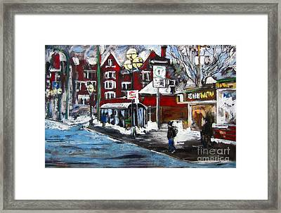 Osborne Village-winnipeg Framed Print