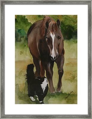 Oscar And Friend Framed Print by Jean Blackmer