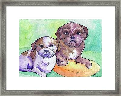 Oscar And Max Framed Print by Whitney Morton