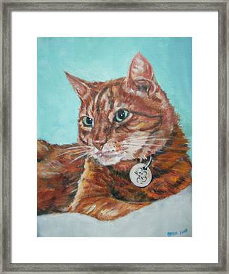 Framed Print featuring the painting Oscar by Bryan Bustard