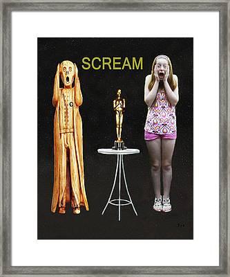 Oscar Scream Framed Print by Eric Kempson