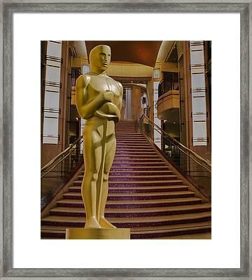 Oscar Statue Dolby Theater Framed Print by Janet Ballard