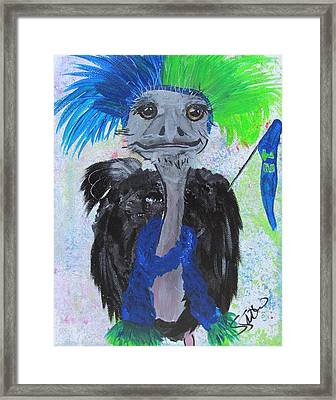 Oscar The Ostrich Framed Print by Susan Snow Voidets