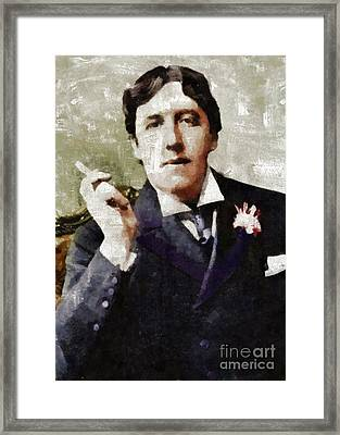 Oscar Wilde By Mary Bassett Framed Print