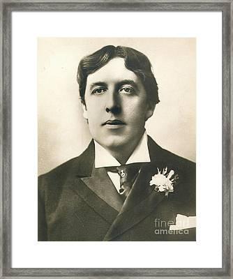 Oscar Wilde Framed Print by Granger