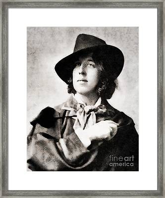 Oscar Wilde, Literary Legend Framed Print