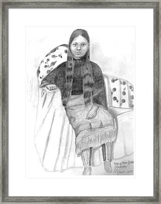 Oscar Yellow Wolf's Wife Framed Print by Mary Kaser