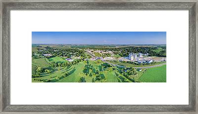 Panorama Of Osceola, Nebraska Framed Print