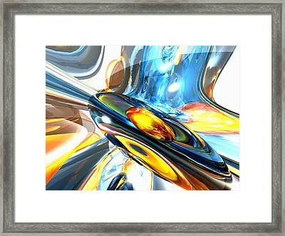 Oscillating Color Abstract Framed Print by Alexander Butler
