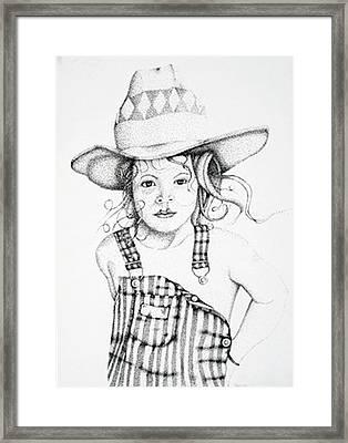 Framed Print featuring the drawing Osh Kosh by Mayhem Mediums