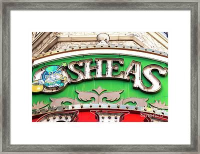 O'sheas Las Vegas Framed Print by John Rizzuto