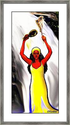 Oshun -goddess Of Love -4 Framed Print by Carmen Cordova