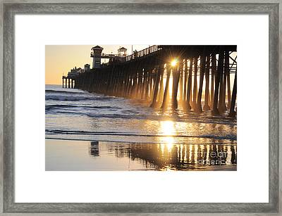 O'side Pier Framed Print