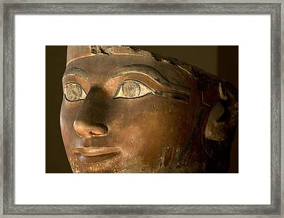 Osiris Statue Face Of Hatshepsut Framed Print by Kenneth Garrett