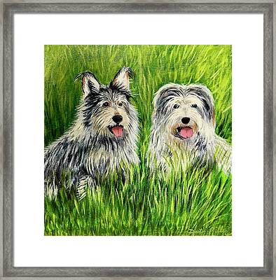 Oskar And Reggie Framed Print