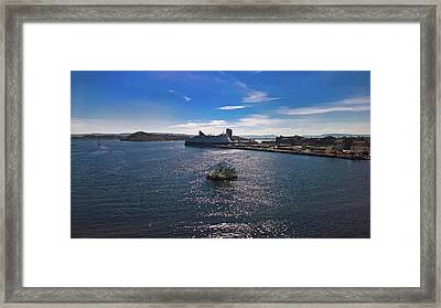 Oslo Fjord From The Roof Of The National Opera House Framed Print