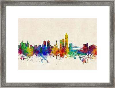 Oslo Norway Skyline Framed Print by Michael Tompsett