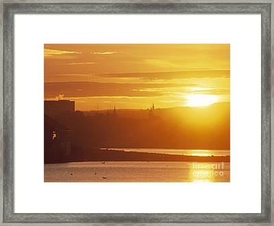 Oslo Sunrise Framed Print by Kim Lessel