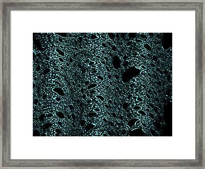 Osmosis Blue Framed Print